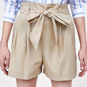 Zara Basic Bermuda Tie Waist Short